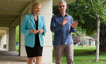 Tim Cook, Ginni Rommety
