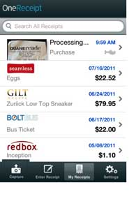 The Daily App, OneReceipt