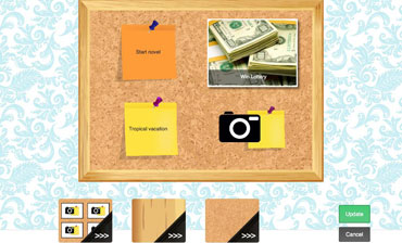 Today's daily app, Visionboard for iPad