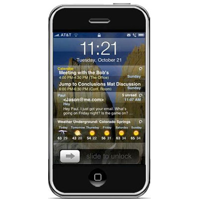 To A Screen Other Than Their Background Or Saver While The Device Is Locked Intelliscreen Promises Allow Users View Calendar E Mail