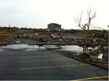 Picture of Tornado damage in Joplin, Mo.