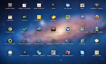 Mac OS X screen