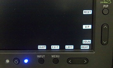 NEC MultiSync Control Panel