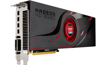 The latest Radeon graphics card, Radeon HD 6990