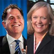 Michael Dell, Meg Whitman