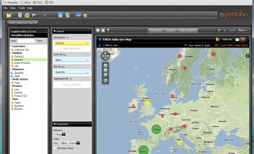 Pentaho Geomapping Advanced Data Visualization software